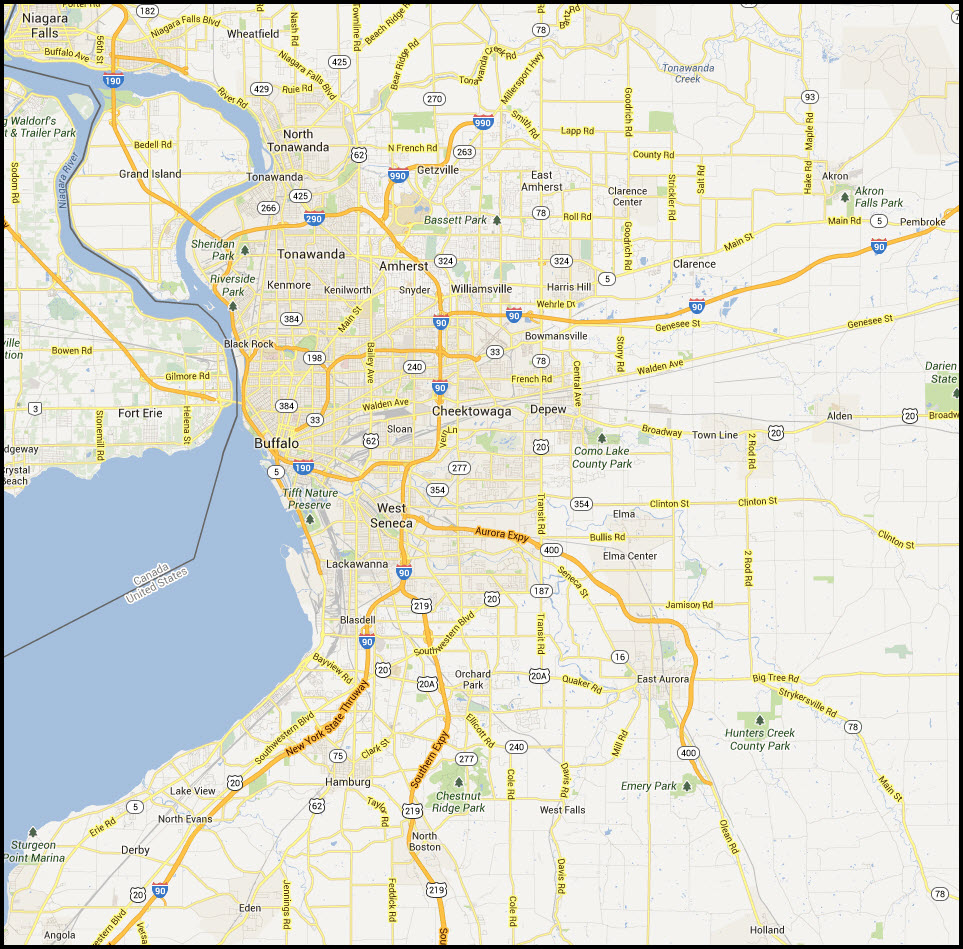 Buffalo New York Map Related Keywords Amp Suggestions