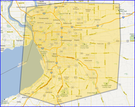 Zinzola Plumbing - Buffalo NY Coverage Map